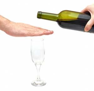 stop alcoholism concept